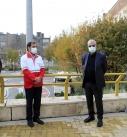 بازدید سخنگوی دولت و دبیرکل هلال احمر از «خانه هلال هرندی»