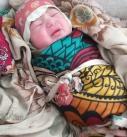 تولد نوزاد در روستای برفی دیش گدیگی آذربایجان شرقی