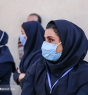 تشییع پیکر شهیده مدافع سلامت بیمارستان لقمان حکیم