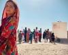 کاروان نذر آب آذربایجان غربی در شهرستان مهرستان سیستان و بلوچستان